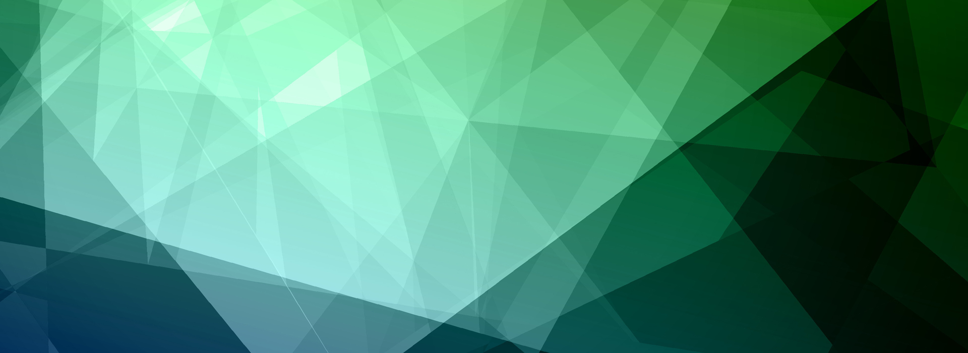 Blue and green gradient triangular background