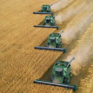 equipment, combines, field