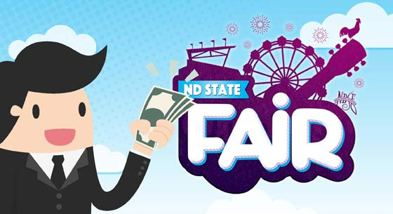 Guy with Money, ND State Fair logo