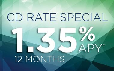 CD RATE SPECIAL 1.35% APY* for 12 months