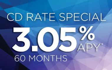 CD RATE SPECIAL 3.05% APY* for 36 months