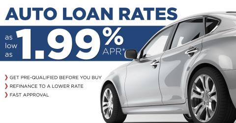 Auto Loan Rates as low as 1.99% Town & Country Credit Union