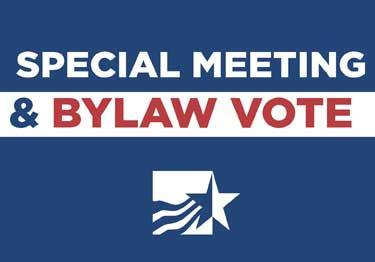 Special Meeting & Bylaw Vote