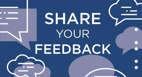 share your feedback