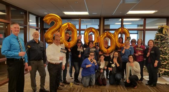 Town & Country employees celebrate hitting 20,000 members