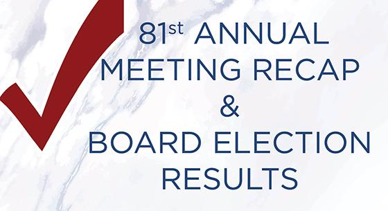 81st Annual Meeting Recap & Board Election Results, red check mark on marble background