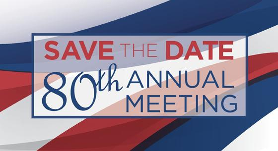 Save the Date graphic for 80th Annual Meeting
