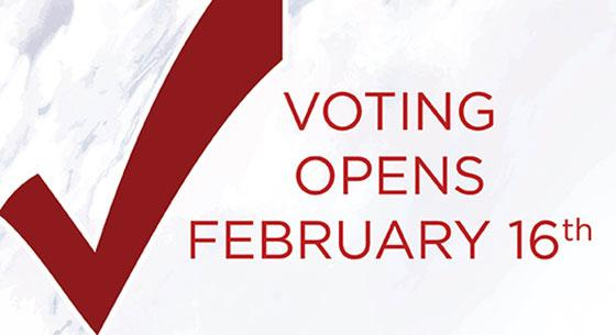 Voting Opens February 16th, Check Mark