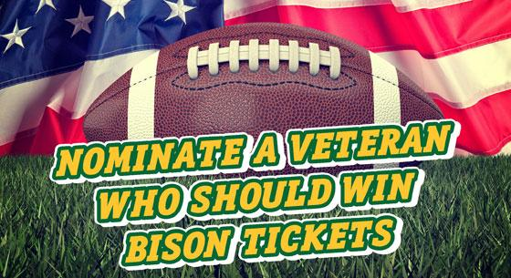 Nominate a Veteran Who Should Win Bison Tickets
