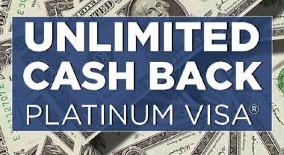Unlimited Cash Back Graphic with money in background