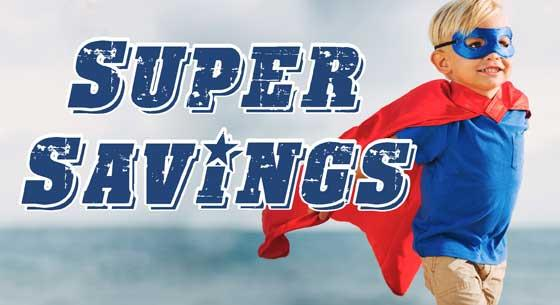 Kid, super, hero, Super Savings