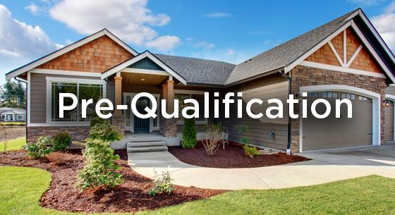 Pre-qualification in front of a home