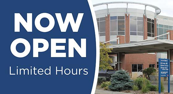 The Town & Country branch inside the Sanford Broadway Medical Center with the words Now Open Limited Hours