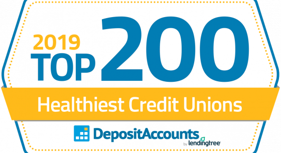 2019 Top 200 Healthiest Credit Unions from DepositAccounts by lendingtree