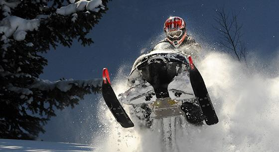 snowmobile in the snow - recreational vehicle loans
